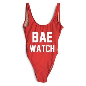 Private Party Bae Watch One Piece Swimsuit